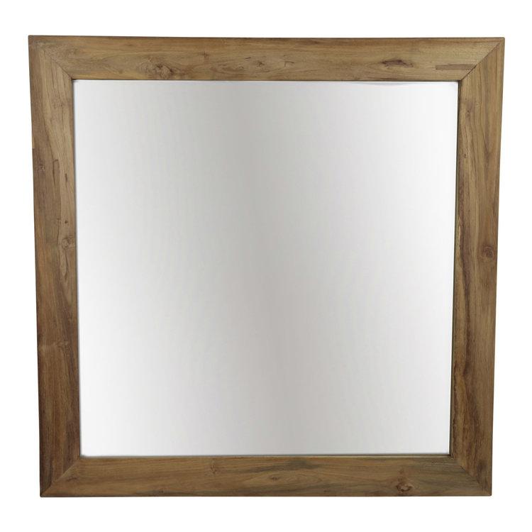 PTMD spiegel vierkant oud teak.663654