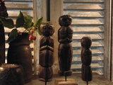 "Set houten poppetjes uit India (3 stuks) ""A""_"