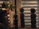 """Set houten poppetjes uit India (3 stuks) """"E""""_"""