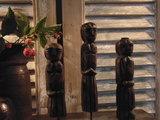 "Set houten poppetjes uit India (3 stuks) ""F""_"