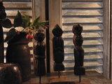 "Set houten poppetjes uit India (3 stuks) ""G""_"