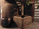 """Sober Chinees oud houten bakje """"E""""_"""