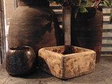 """Sober Chinees oud houten bakje """"F""""_"""