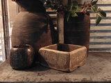 """Sober Chinees oud houten bakje """"H""""_"""