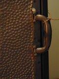 Industrieel brons/koper stalen kastje met deur