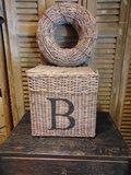 "Vierkanten opbergmand, letter ""B"" 28cm"