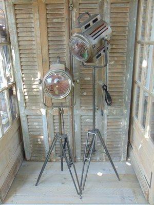 PTMD theaterlamp op verstelbare voet in brons kleur.
