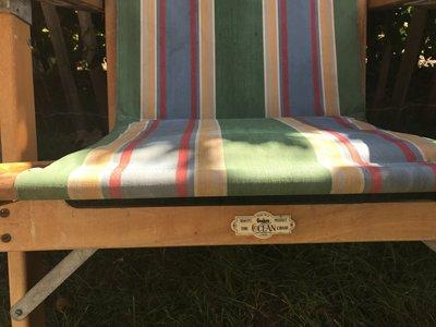 Mooie Engelse oude deckchair .