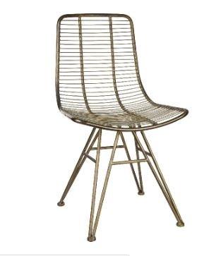 PTMD stoel Wire brass metaal in goud kleur.