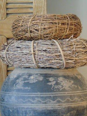 Stoere oude Chinese zwart/grijze pot