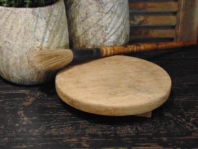 Oude houten Nepalese Chapati  plate