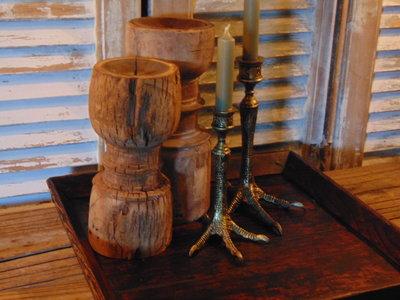 """mooi oud houten Chinees dienblad """"D"""""""