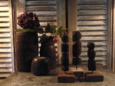 "Set houten poppetjes uit India (3 stuks) ""C"""