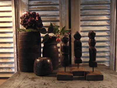 "Set houten poppetjes uit India (3 stuks) ""G"""