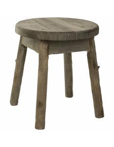 PTMD rond houten krukje. 662052