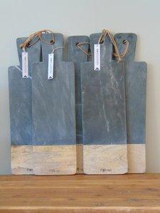 Houten marmeren snijplank, 50cm