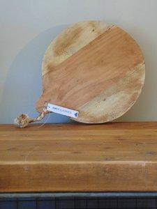 """Ronde Acacia houten snijplank """"A"""", 30cm"""
