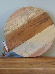 """Ronde Acacia houten snijplank """"E"""", 50cm"""