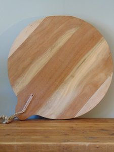 "Ronde Acacia houten snijplank ""F"", 50cm"