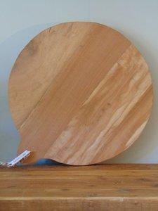 """Ronde Acacia houten snijplank """"G"""", 50cm"""
